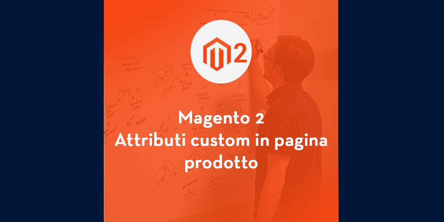 magento 2 attributi custom in pagina prodotto
