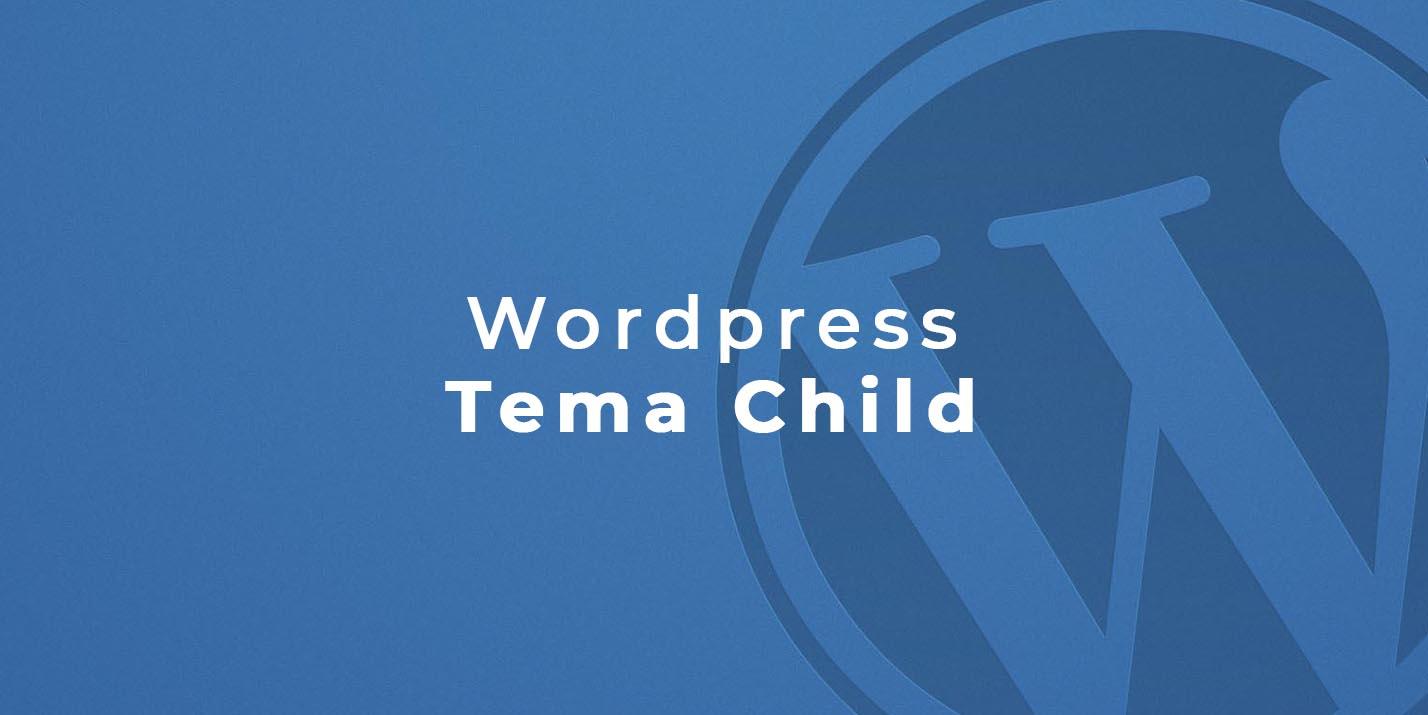 wordpress tema child per sito web