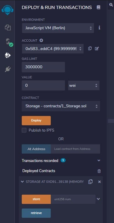 Remix solidity blockchain ethereum